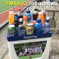 EMPASO TeamTray – it serve a team of 14 players with 14 different drinks