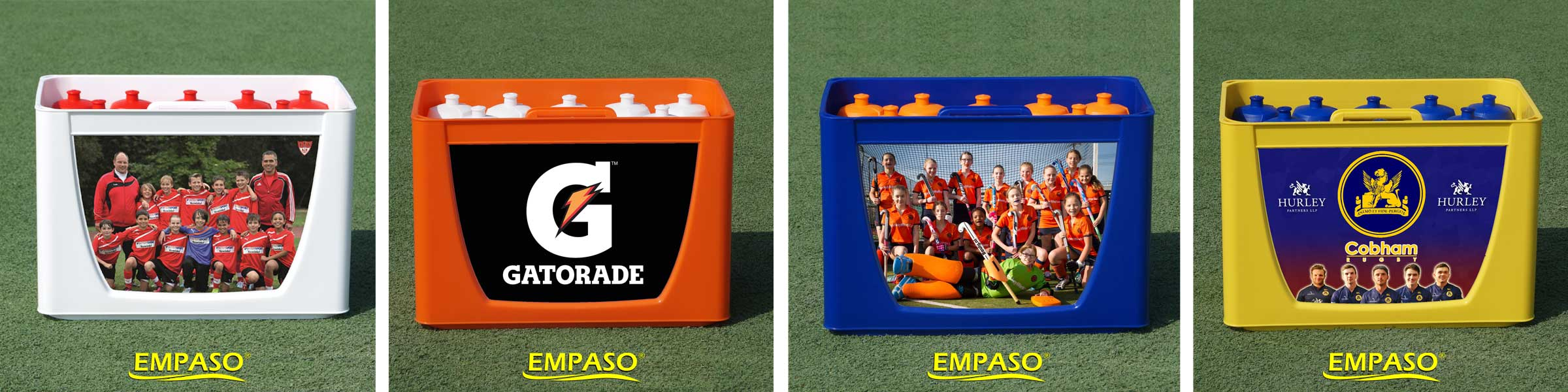 EMPASO 12 Sport bottle TeamCrate - bottle carrier set