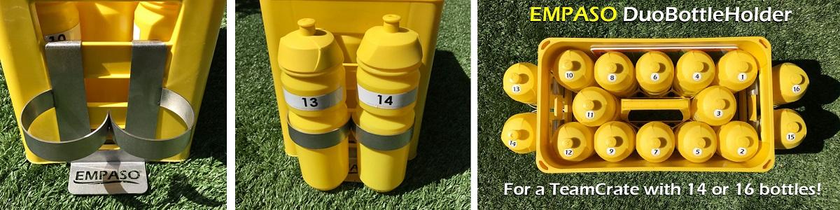 EMPASO TeamCrate - sports bottle carrier - football bottles