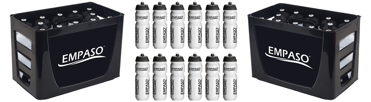 PROMO EMPASO TeamCrate sports bottles carrier set Black & White