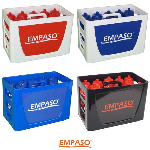 EMPASO TeamCrate - sports bottles carrier - football bottles - water bottles set
